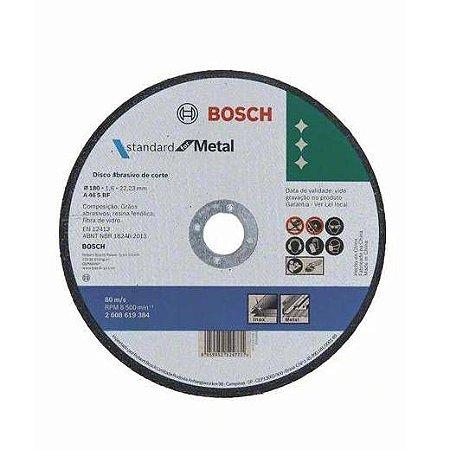 Disco de Corte Bosch Metal Inox 180x1,6mm Std 1 Unidade