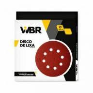 Disco de Lixa 180mm 8 furos Grão 180 com 10pç Wbr Wagner Para Lixadeira