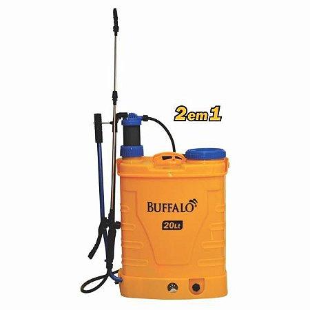 Pulverizador Costal 2 em 1 Manual e Elétrico Buffalo 20 Litros Com Bateria e Carregador