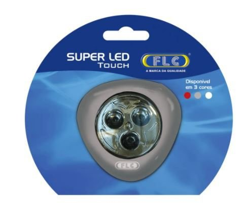 Luminária Super Led Touch   (Led Click) Prata