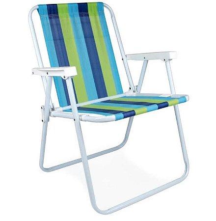 Cadeira Alta De Praia em Aço Mor