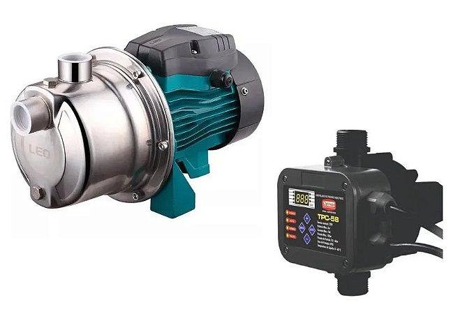 Pressurizador De ÁGua Autoaspirante Ajm45sl 0,6 Hp 220v Lepono C/ Tpc-58