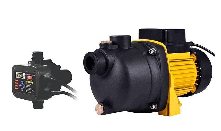 Pressurizador De Agua 1cv Autoaspirante Ferrari Jetp-100 127v + Controlador Tpc-58
