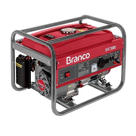 Gerador de Energia à Gasolina B4T-3500E Branco 7,0CV 3,5KW Monofasico 110/220V