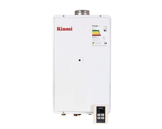 Aquecedor Rinnai Digital a Gás Gn Reu-2402 Fea 32,5l Ch. 100mm