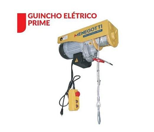 Guincho Coluna Prime Menegotti  150/300kg Com Motor Monofasico 127v