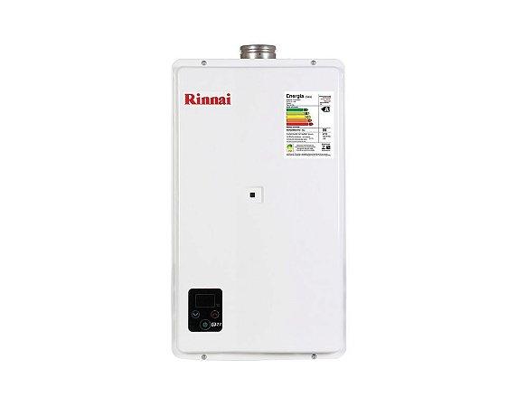 Aquecedor Rinnai Digital a Gás Gn E27 Reu-E270 Feh Nacional 27l Ch. 80mm