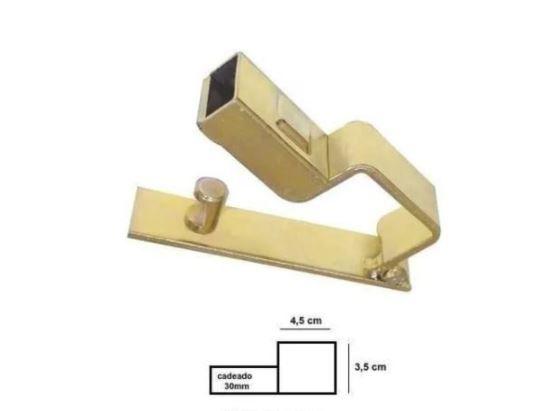 Trava Com Porta Cadeado Para Portão Bicromatizada N.2 Travofix