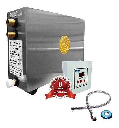 Sauna A Vapor Impercap Top Turbo Eletrica 9kw Digital Inox 380v