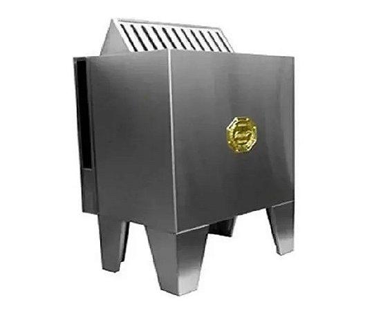 Sauna Seca Eletrica Impercap 7,5kw Finlandia Star Inox Trifasica 380v Digital