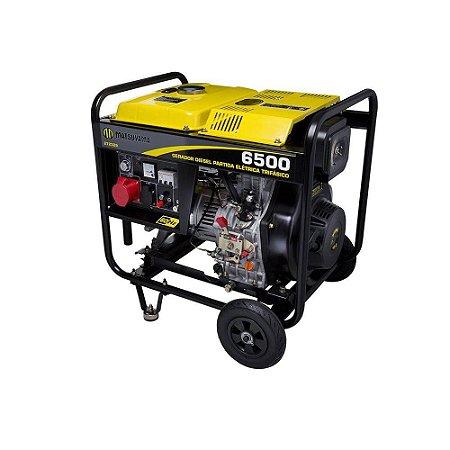 Gerador Matsuyama Diesel 6500 Partida Elétrica Trifásico 220v