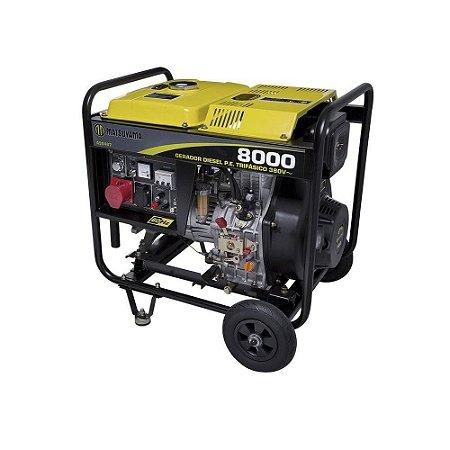 Gerador Matsuyama Diesel 8000 Partida Elétrica Trifásico 220v