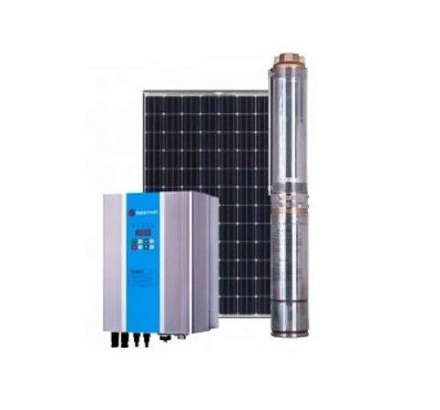 Sistema de Bombeamento Solartech Spm600h Completo Bomba Dagua Solar + 3 Paineis