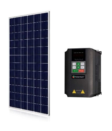 Kit Solartech Inversor Pk4000l para Bomba 3cv trifasico 220v + 9 Placas Solar 340w