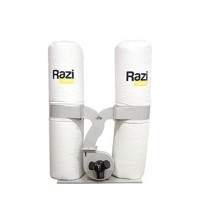 Coletor De Pó Razi 307 Litros 2 Reservatório 3cv Trifásico 220/380v