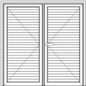 Porta De Giro Com 2 Folhas E Lambril De 100 mm