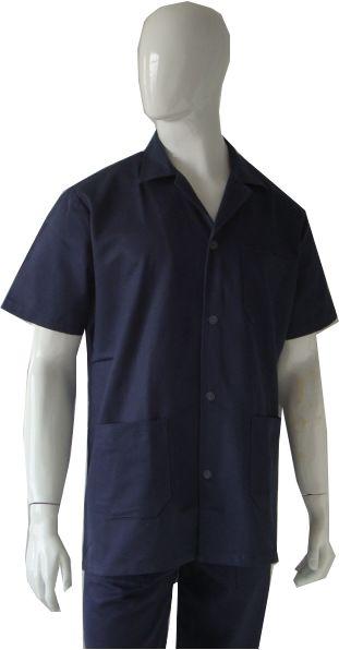 Jaleco/Camisa em Brim manga curta