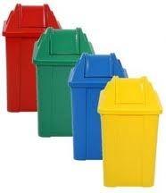 Cesto de Lixo Quadrado Plástico com Tampa Vai-Vem - JSN (Capacidade 60 litros)