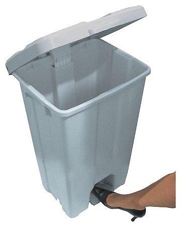 Cesto de Lixo Quadrado Plástico com Pedal - JSN (Capacidade 15, 25 e 60 litros)
