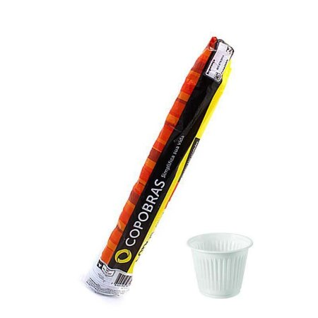 Copo Descartável Branco 180 ml - copobras PS (Com 100 unidades)