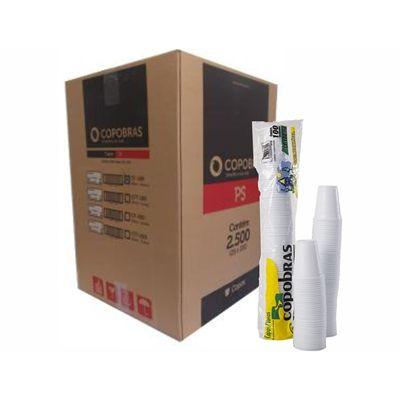 Copo Descartável Branco 180 ml - copobras PS (Com 2.500 unidades)