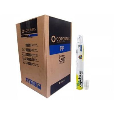Copo Descartável Branco 200 ml - copobras (Com 2.500 unidades)
