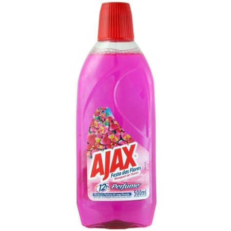 Ajax Festa das Flores - 500 ml (Bouquet de Flores, Flores Campestres, Lavanda e Perfume Delicado)