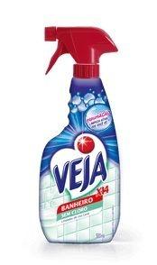 Veja X14 - Pulverizador e Refil - 500 ml (Banheiro Sem Cloro, Tira Limo Cloro Ativo e Cozinha Desengordurante)
