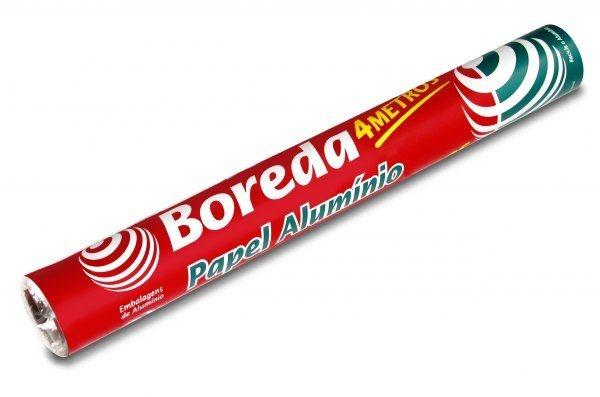 Papel Alumínio - Boreda (45cm x 4 mts, 45 cm x 65 mts e 30 cm x 7,5 mts)
