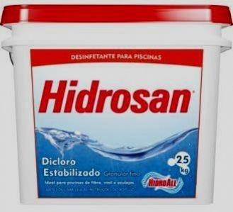 Cloro Hidrosan Plus - Hidroall (Embalagem: 2,5 Kgs e 10 Kgs)