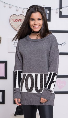 BLUSA TRICOT AMPLA LIVE YOUR LIF PERFUMARIA