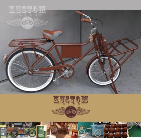 FoodBike Marrom - Bicicleta Cargueira Cargo Carga Aro 26 BikeFood