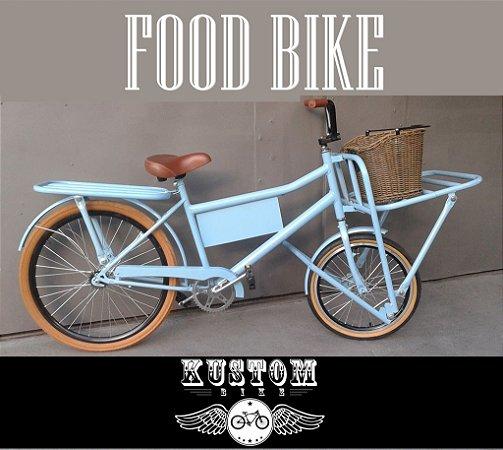 FoodBike Blue - Bicicleta Cargo Carga Aro 26 BikeFood