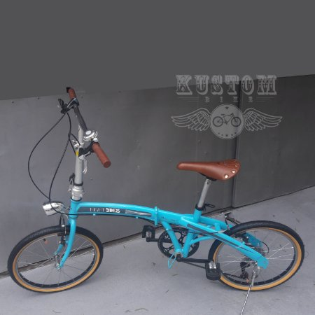 Bicicleta Dobravel Estilo Vintage Retro Cambio Shimano 7v