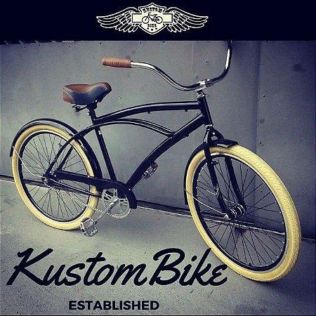 Bicicleta Beach Bike Cruiser - Rodas Aro Aero 26 Retrô Vintage Caiçara