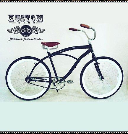 Bicicleta Retrô Inspired Harley - Vintage Antiga Selim 3 Molas