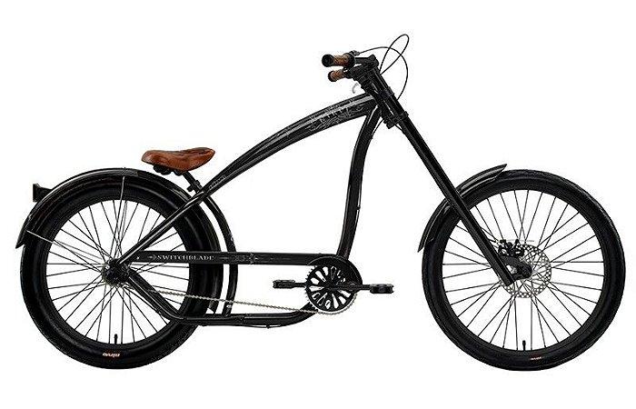 Bicicleta Switchblade Gloss Black Nirve - Retrô Vintage Cruiser