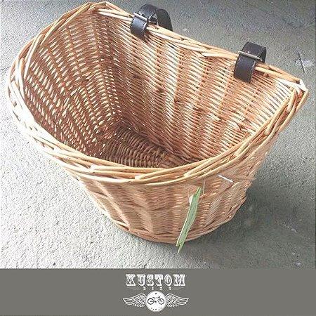 Cesta Cestinha De Vime - Retro Vintage Palha Bicicleta