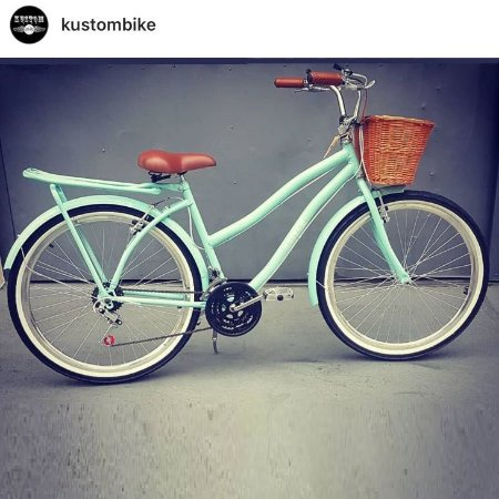 Bicicleta Feminina Cruiser - Beach Bike  - Retrô Vintage Inspired Harley selim marrom