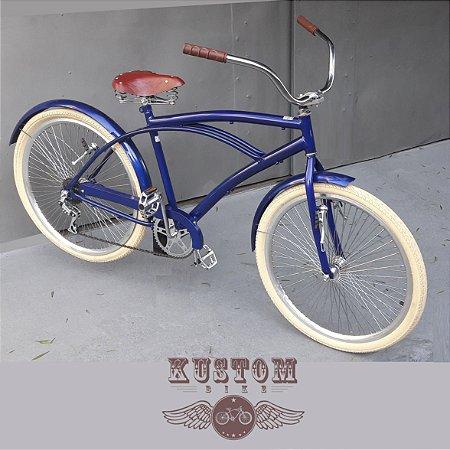 Bicicleta Royal Beach Cruiser - Rodas 72 Raios Aro 26 Retrô Vintage Caiçara