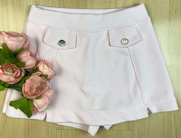 Shorts Saia Infantil Menina Charmosa - Kiki Xodó