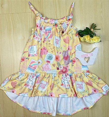 Vestido Infantil Menina Denguinho - Kiki Xodó
