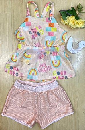 Conjunto Infantil Menina Happy Day - Kiki xodó