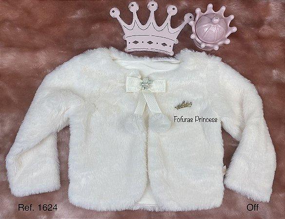 Casaco Infantil Menina Pelinhos e Pompom - Kiki Xodó