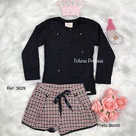 Conjunto Infantil, Blusa e Shorts FruFru - Kiki Xodó