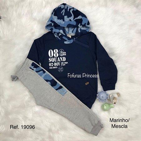 Conjunto Infantil Menino, Blusa e Calça Capuz Camuflado - AleKids