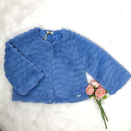 Casaco Infantil Inverno Menina Pelo Azul - Infanti
