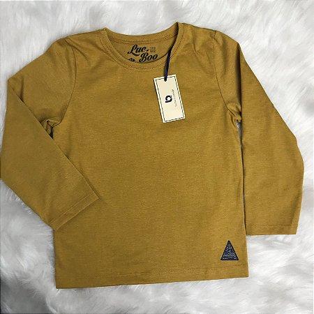 Camiseta Inverno Menino Mostarda - Luc.Boo