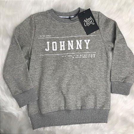 Moletom Inverno Menino Cinza - Johnny Fox