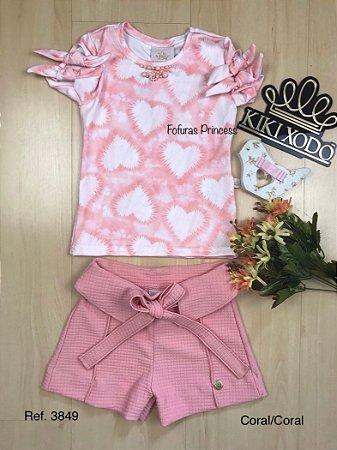 Conjunto Infantil Corações Tie Dye - Kiki Xodó
